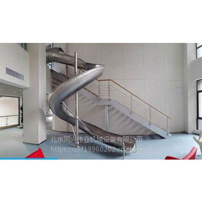厂家生产农场不锈钢滑梯 户外公园组合滑梯 非标旋转滑梯