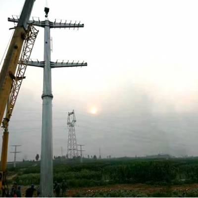 南京市13米66kv直线高压钢杆生产厂家 张家口110kv转角钢桩重量 霸州市顺通电力设备厂