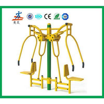 祁阳小区三位扭腰器批发 室外健身器材定做,永州上百种健身路径款式可选择