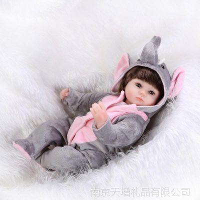 萌萌哒动物娃娃仿真可爱宝宝玩具仿真婴儿过家家玩具出口环保软胶