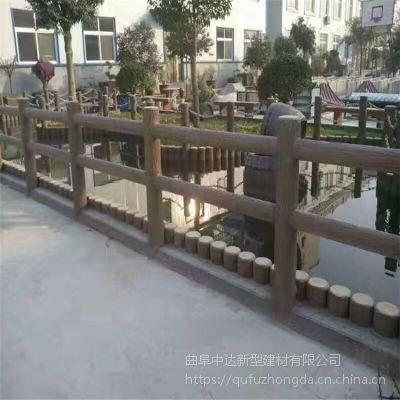 潍坊景观工程_仿木栏杆_水泥仿木护栏 仿树皮护栏