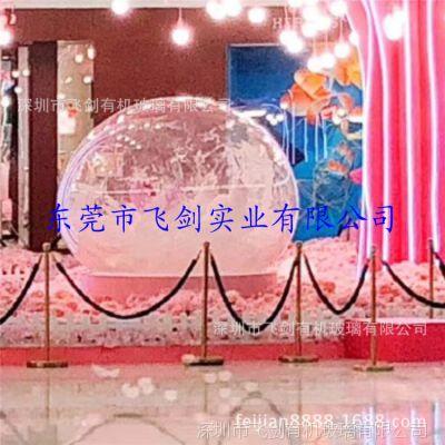 工厂现货供应户外美陈婚庆搭建专用透明水晶发光装饰球带底座