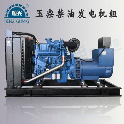 河南发电机厂家供应玉柴系列柴油发电机组 标配四保护液晶控制区 无刷发电机