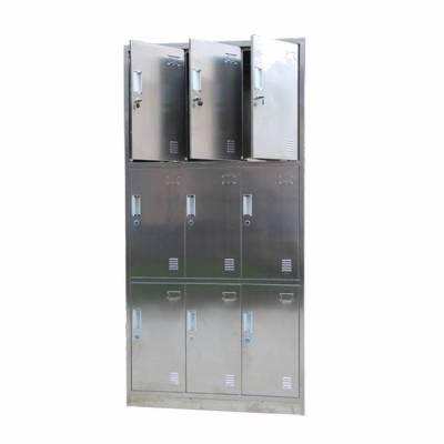 熊猫牌201六门不锈钢员工更衣柜9门浴室储物柜304不锈钢4门更衣柜厂家定制