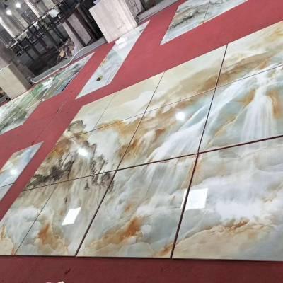大板规格80*120玻璃瓷砖3D地砖市场需求