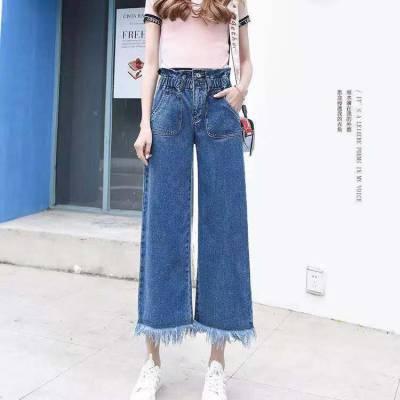 韩版新款女装白色破洞牛仔短裤显瘦宽松毛边休闲百搭裤子批发