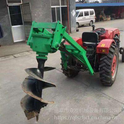 定制加长拖拉机挖坑机 园林种植高效地钻打坑机