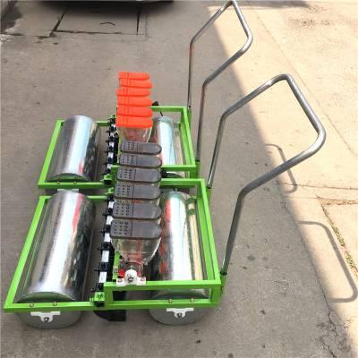 新款 三行 手推蔬菜播种机 3行人力型精播机可播种芹菜的机器