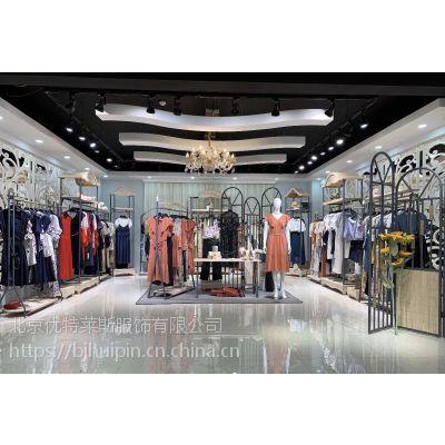 诺娜莉女装品牌女装库存尾货批发微信号重磅品牌甜美混纺蕾丝衫