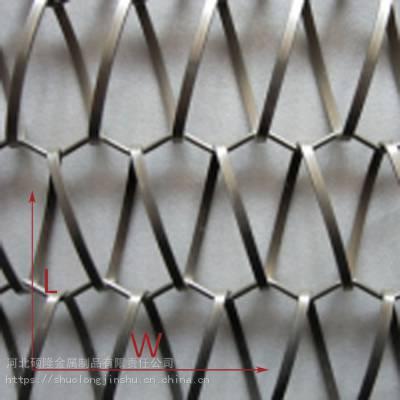 硕隆不锈钢建筑装饰网 室外螺旋菱形网带
