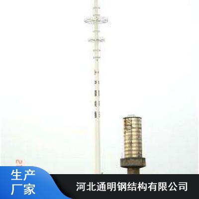 通明15米插接式独管手机信号塔_Q345B抗氧化手机信号塔厂家价格