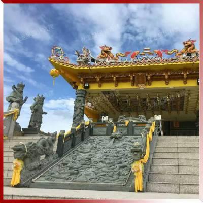青石御道浮雕九龙壁 阶梯踏道寺庙古建案例实图