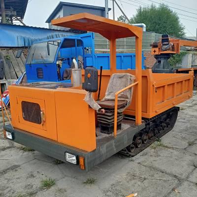山地履带运输车厂家 广西履带式运输拖拉机 久恒履带自卸翻斗车
