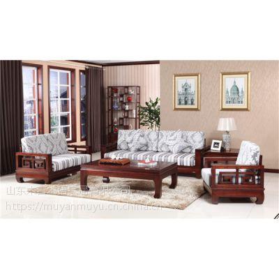 供应木言木语608-1#中式简约镂空精美图案沙发