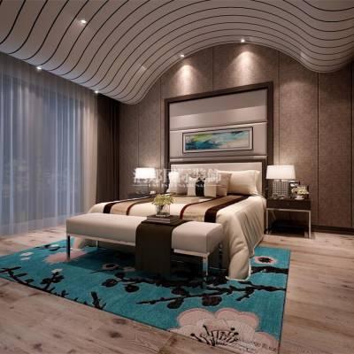 南京山河水500平方米别墅新中式风格装修效果图-润邦国际装饰