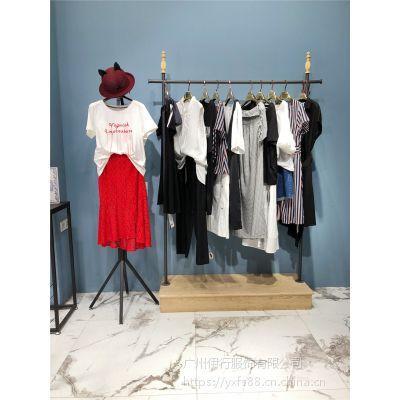 伊袖杭州淑女品牌折扣店特卖货源19年夏款女装拿货价格