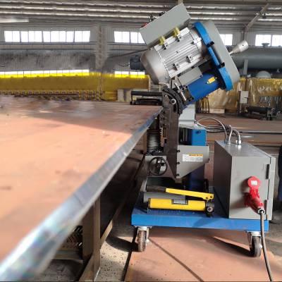 坡口机 钢板铣边机 厂家郑州GMMA-60S小型平板铣边机