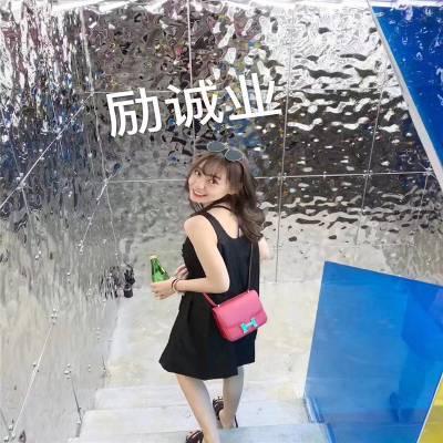 现货不锈钢波浪板 KTV酒店高端装饰水波纹不锈钢板吊顶专用波纹