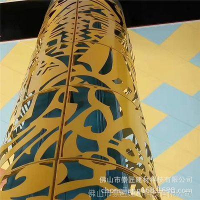 南昌喷涂铝花格装饰 方管铝窗花价格 木纹铝窗花厂家