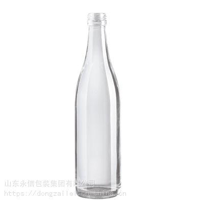 专业玻璃瓶生产厂家供应250ml透明白酒酒瓶 定制高档洋酒瓶 烤花喷涂瓶