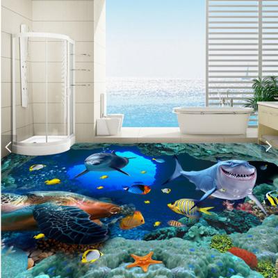 高清鲤鱼戏水微晶石3D地砖批发价位