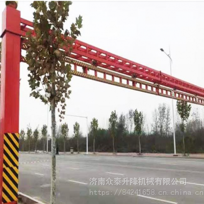 郑州上街区 电动升降限高架厂家 5-15简易防撞限高杆 圆管限高杆 限高架专业品质 诚信经营