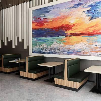 木纹色卡座沙发搭配人造石餐桌一套要多少钱