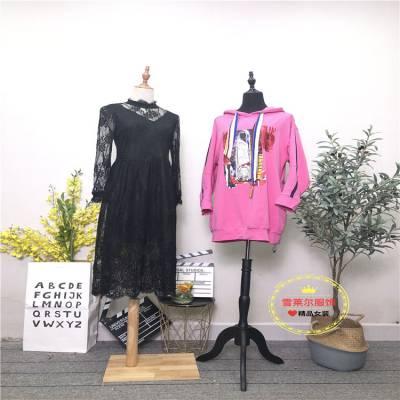 上海知名品牌女装货源万古汇个性新款套装尾货市场批发多种面料新款组货包