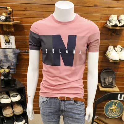 便宜男装短袖批发 韩版男士T恤批发厂家 大码男装半袖厂家货源