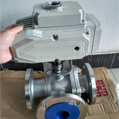 可诺泵阀Q945F防爆电动三通T形流道球阀厂家提供参数