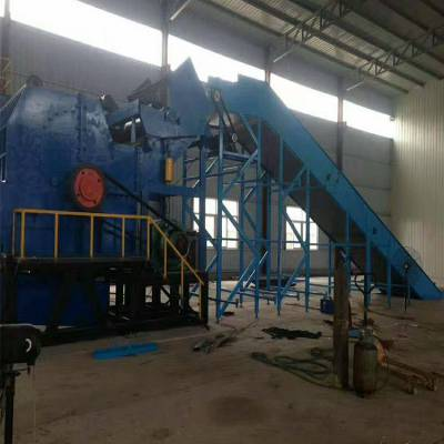 现货供应大型废旧金属破碎机 废铁桶薄铁皮破碎机 废钢破碎线