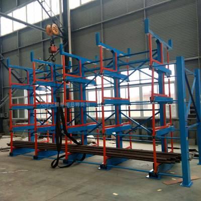 厦门悬臂式货架图片 伸缩悬臂式货架 放棒料 环保行业指定