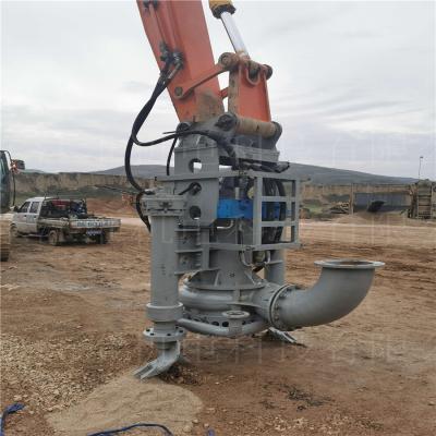 潮州挖机搅拌围堰泵 沟渠专用碎石泵 勾机中型清淤泵江淮泵业