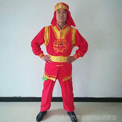 新款舞龙舞狮服装打鼓服演出服男秧歌服锣鼓赛龙舟陕北腰鼓队服装