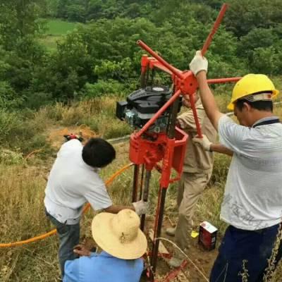 可调速取芯钻机价格 勘探钻机 汽油支架式取芯钻机