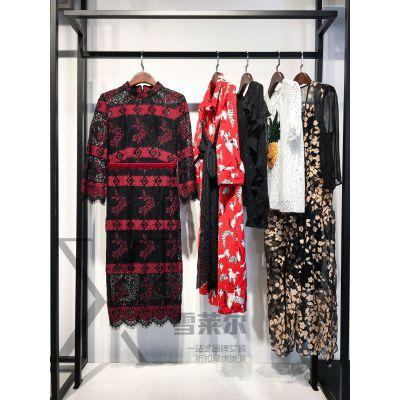 广州品牌服饰库存尾货批发埖坢夏装多种面料多种款式