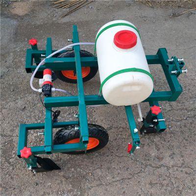 农用多功能覆膜机 手扶配套打药地膜机 烟叶铺膜机操作视频
