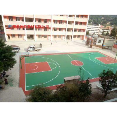 永州社区单位塑胶篮球场地面施工设计 零陵室外硅胶篮球场翻新