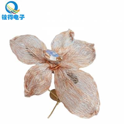 铨得供应 铜丝编织工艺发夹用铜编织线 个别特殊可按照用户需求定做