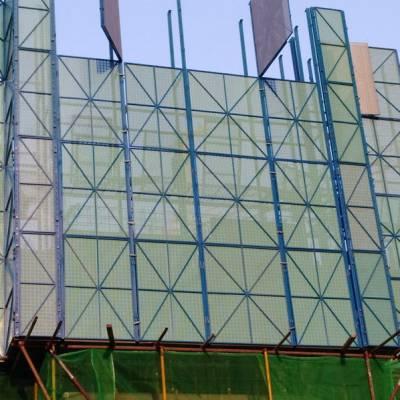 建筑爬架网 附着式脚手架防护板 高层外墙全钢喷塑镀锌圆孔网片