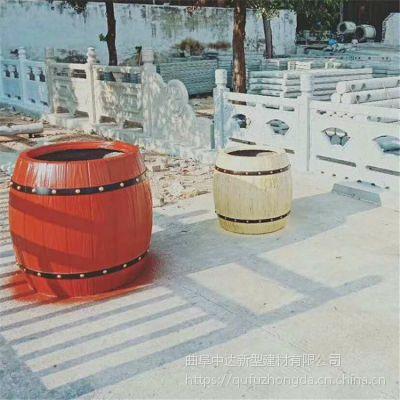 淄博市小区道路混凝土花桶花箱 树围凳子