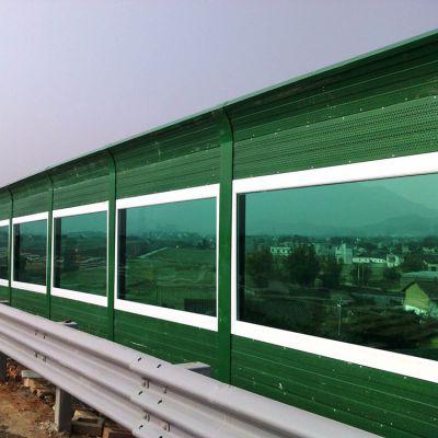 绿色百叶孔声屏障、道路吸声隔音板厂家、表面绿色隔音围挡生产厂家