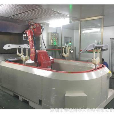 省漆的汽车喷涂设备 荣德尾翼喷涂机器人RDROBOT02