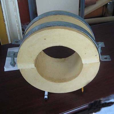 沧州汇鹏 蒸汽管道 蛭石隔热管托 尺寸加工