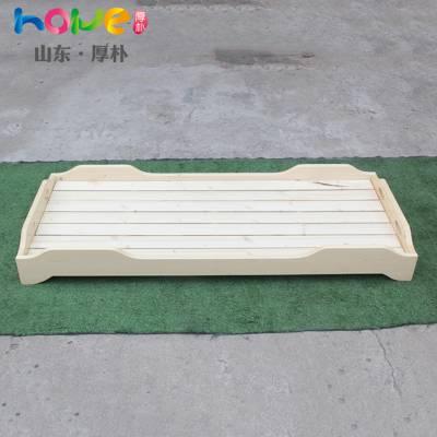幼儿园床厂家直销 山东厚朴幼儿园儿童午睡单人简约现代实木床