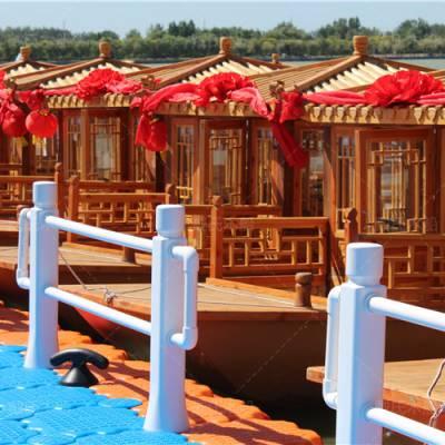 5米电动船 水库旅游船 戴氏木质船 湖南常德木船厂家定制6座景区旅游船