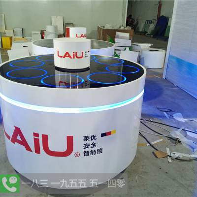 辽宁辽阳锁艺人木门锁架批发厂家 SID超人电子锁展示台