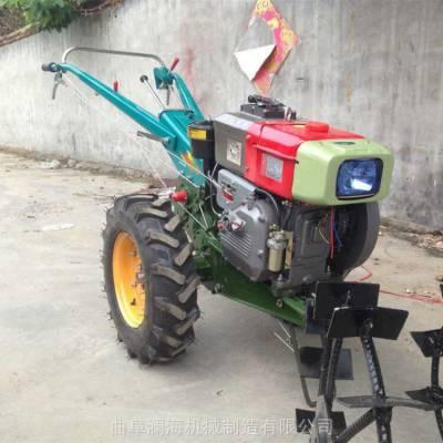 欢迎采购 农用15马力手扶拖拉机犁田机 丘陵坡地翻田机