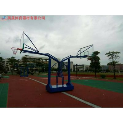 湖南篮圈水平面标准高度和位置的篮球架 长沙不锈钢材质玻璃钢篮球框结实耐砸