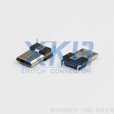 MICRO USB 5P 正反插公头 双面插插头 安卓 盲插公头 双插USB插座